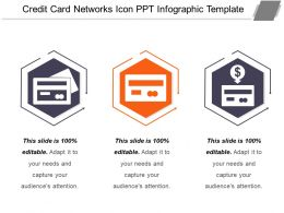 Credit Card Networks Icon Ppt Infographic Template