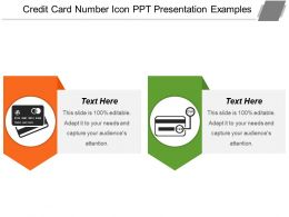 Credit Card Number Icon Ppt Presentation Examples