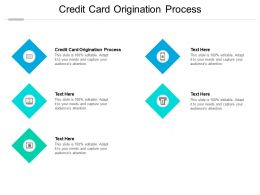 Credit Card Origination Process Ppt Powerpoint Presentation Pictures Display Cpb