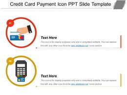 Credit Card Payment Icon Ppt Slide Template