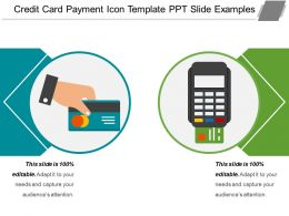 Credit Card Payment Icon Template Ppt Slide Examples