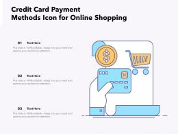 Credit Card Payment Methods Icon For Online Shopping