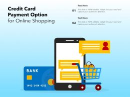 Credit Card Payment Option For Online Shopping