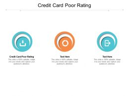 Credit Card Poor Rating Ppt Powerpoint Presentation Infographic Graphics Design Cpb