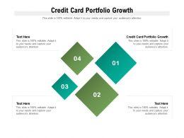 Credit Card Portfolio Growth Ppt Powerpoint Presentation Shapes