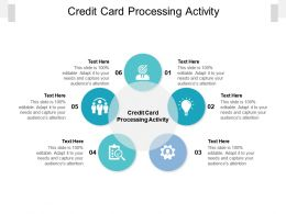 Credit Card Processing Activity Ppt Powerpoint Presentation File Objects Cpb
