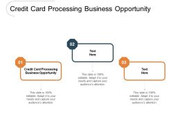 Credit Card Processing Business Opportunity Ppt Powerpoint Presentation Inspiration Clipart Cpb