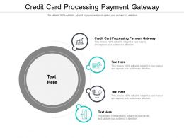 Credit Card Processing Payment Gateway Ppt Powerpoint Presentation Layouts Maker Cpb