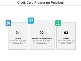 Credit Card Processing Practices Ppt Powerpoint Presentation Summary Icons Cpb