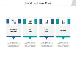 Credit Card Pros Cons Ppt Powerpoint Presentation Infographics Pictures Cpb