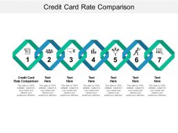 Credit Card Rate Comparison Ppt Powerpoint Presentation Inspiration Structure Cpb