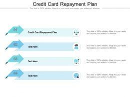 Credit Card Repayment Plan Ppt Powerpoint Presentation Show Samples Cpb