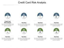 Credit Card Risk Analysis Ppt Powerpoint Presentation Styles Slideshow Cpb