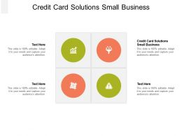 Credit Card Solutions Small Business Ppt Powerpoint Presentation Layouts Graphics Pictures Cpb