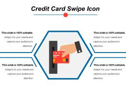 Credit Card Swipe Icon Ppt Slide Templates