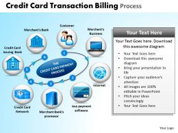 Credit Card Transaction Billing Process Powerpoint Slides And Ppt Templates DB