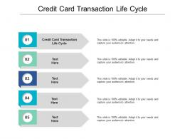 Credit Card Transaction Life Cycle Ppt Powerpoint Presentation Slides Smartart Cpb