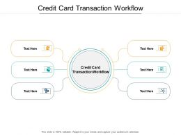 Credit Card Transaction Workflow Ppt Powerpoint Presentation Gallery Cpb