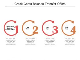 Credit Cards Balance Transfer Offers Ppt Powerpoint Presentation Infographic Template Guidelines Cpb