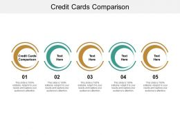 Credit Cards Comparison Ppt Powerpoint Presentation Pictures Mockup Cpb