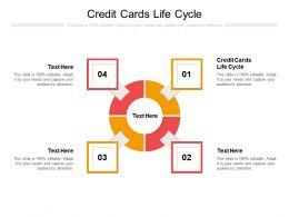 Credit Cards Life Cycle Ppt Powerpoint Presentation Show Infographic Template Cpb