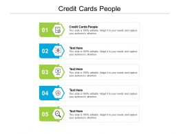 Credit Cards People Ppt Powerpoint Presentation Infographic Template Graphics Download Cpb