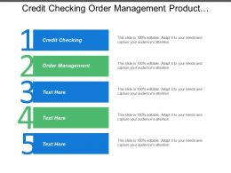 Credit Checking Order Management Product Catalogue Billing System