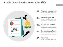 Credit Control Basics Powerpoint Slide