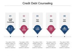Credit Debt Counseling Ppt Powerpoint Presentation Summary Background Cpb