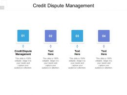 Credit Dispute Management Ppt Powerpoint Presentation Gallery Elements Cpb