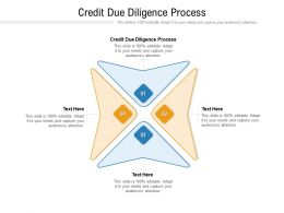 Credit Due Diligence Process Ppt Powerpoint Presentation Model Designs Download Cpb