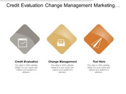 Credit Evaluation Change Management Marketing Techniques Investments Opportunities
