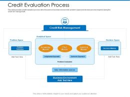 Credit Evaluation Process Analytical Space Ppt Powerpoint Presentation Pictures Slide Download