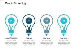 Credit Financing Ppt Powerpoint Presentation Pictures Guide Cpb
