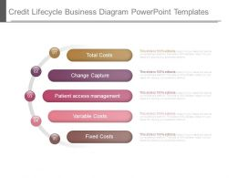 Credit Lifecycle Business Diagram Powerpoint Templates
