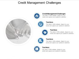 Credit Management Challenges Ppt Powerpoint Presentation Infographics Show Cpb