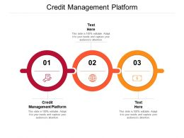 Credit Management Platform Ppt Powerpoint Presentation Summary Inspiration Cpb