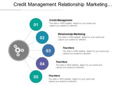 Credit Management Relationship Marketing Performance Improvement Solutions Management Research Cpb