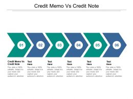 Credit Memo Vs Credit Note Ppt Powerpoint Presentation File Objects Cpb