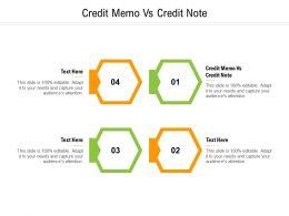 Credit Memo Vs Credit Note Ppt Powerpoint Presentation Icon Background Images Cpb