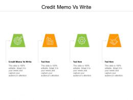 Credit Memo Vs Write Ppt Powerpoint Presentation Influencers Cpb