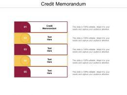 Credit Memorandum Ppt Powerpoint Presentation Professional Rules Cpb