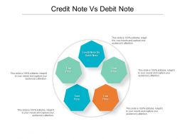 Credit Note Vs Debit Note Ppt Powerpoint Presentation Layouts Layout Cpb