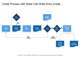 Credit Process With Sales Call Order Entry Credit Criteria And Issued Reports
