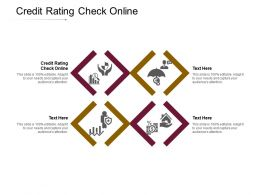 Credit Rating Check Online Ppt Powerpoint Presentation Layouts Examples Cpb