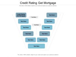 Credit Rating Get Mortgage Ppt Powerpoint Presentation Model Example Introduction Cpb