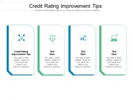 Credit Rating Improvement Tips Ppt Powerpoint Presentation Slides Aids Cpb