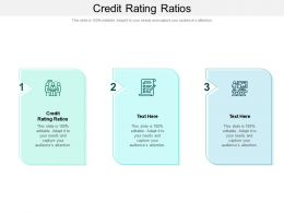 Credit Rating Ratios Ppt Powerpoint Presentation Outline Topics Cpb