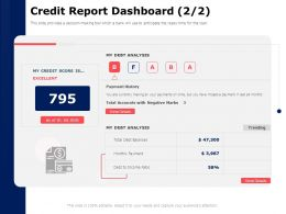Credit Report Dashboard Analysis Ppt Powerpoint Presentation Model Portfolio