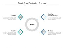 Credit Risk Evaluation Process Ppt Powerpoint Presentation Gallery Layouts Cpb